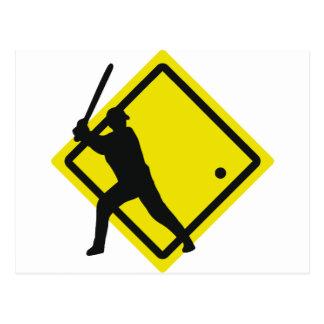 baseball roadsign postcard