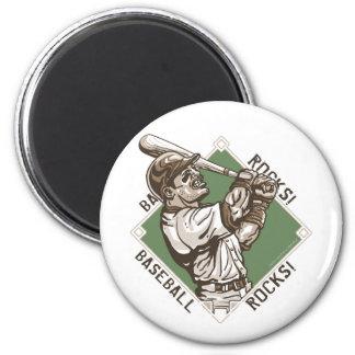 Baseball Rocks Batter Magnet