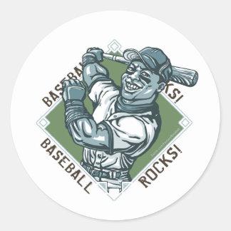 Baseball Rocks Batter Sticker
