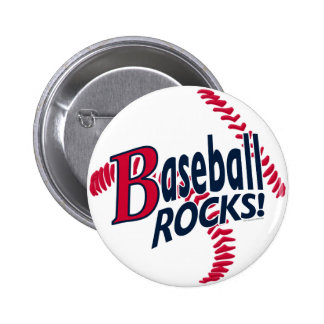Baseball Rocks by Mudge Studios Button