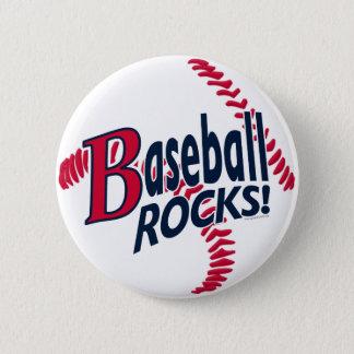 Baseball Rocks by Mudge Studios Pinback Button