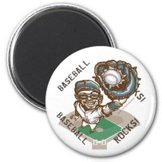 Baseball Rocks Catcher Magnet