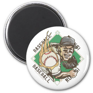 Baseball Rocks Pitcher Magnet
