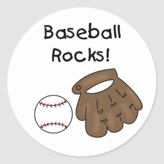 Baseball Rocks T-shirts and Gifts Classic Round Sticker