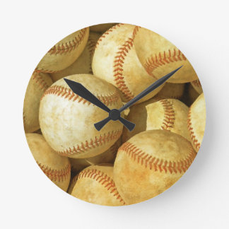 Baseball Round Clock