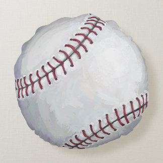 Baseball Round Pillow