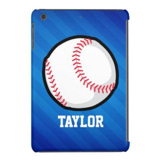 Baseball; Royal Blue Stripes iPad Mini Cases