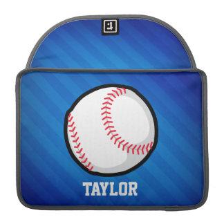 Baseball; Royal Blue Stripes Sleeve For MacBooks