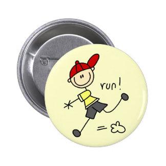Baseball Run Tshirts and Gifts Button