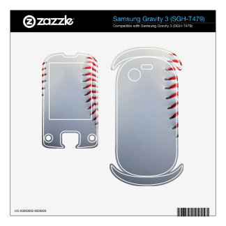 Baseball Samsung Gravity 3 Decal