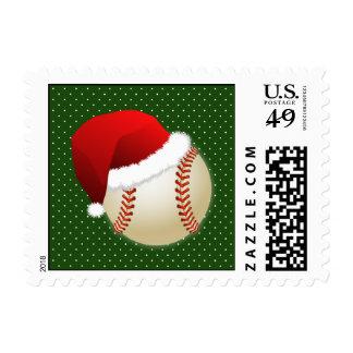 baseball santa hat winter xmas sports stamps