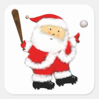 baseball Santa stickers