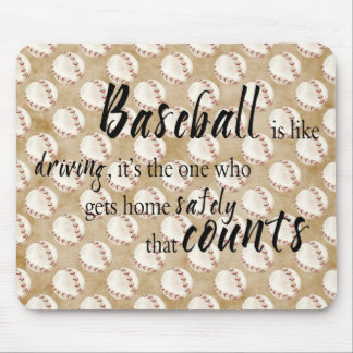 Baseball saying mouse pad
