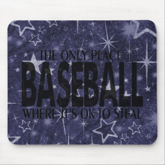 Baseball saying mouse pads
