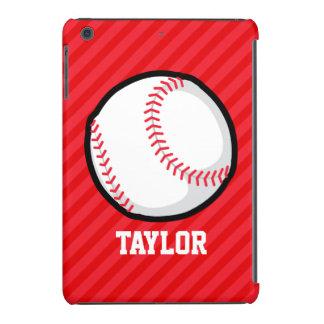 Baseball; Scarlet Red Stripes iPad Mini Covers