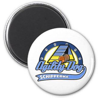 Baseball Schipperke Agility Magnet