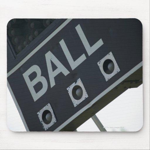 Baseball scoreboard 2 mouse pad