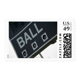 Baseball scoreboard 2 postage stamps