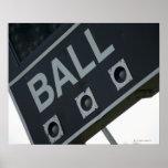 Baseball scoreboard 2 poster