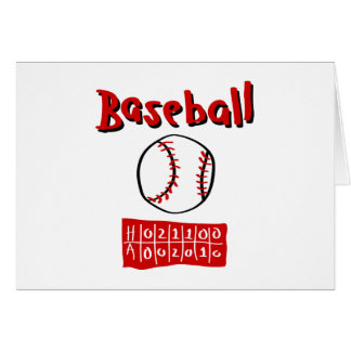 Baseball & Scoreboard Card