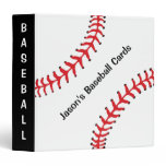 Baseball Scrapbook Binder<br><div class='desc'>Baseball Scrapbook Binder,  with customizable text.  Perfect for the Baseball enthusiast or Baseball Card collector!  Note this binder does not come with pages. Pages to fit this binder can be found on various websites by searching &quot;Avery binder pages&quot;.</div>
