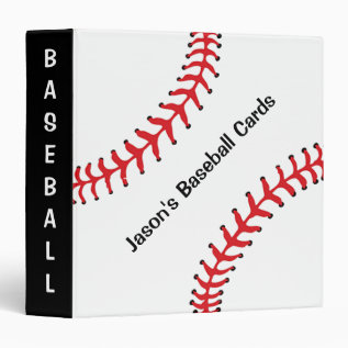 Baseball Scrapbook Binder at Zazzle