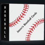 """Baseball Scrapbook Binder<br><div class=""""desc"""">Baseball Scrapbook Binder,  with customizable text.  Perfect for the Baseball enthusiast or Baseball Card collector!  Note this binder does not come with pages. Pages to fit this binder can be found on various websites by searching &quot;Avery binder pages&quot;.</div>"""