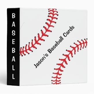Baseball Scrapbook Binder