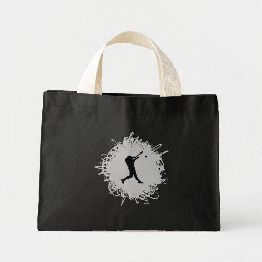 Baseball Scribble Style Mini Tote Bag