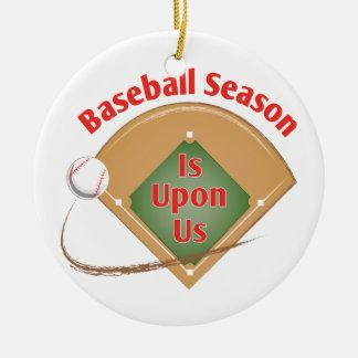 Baseball Season Ceramic Ornament