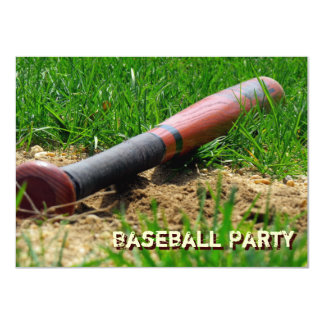 Baseball Season Custom Birthday Party Card