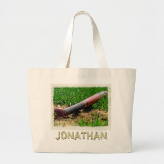 Baseball Season Personalized Large Tote Bag