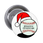 Baseball Seasons Greetings Pinback Button