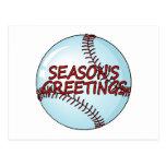 Baseball Seasons Greetings Postcard