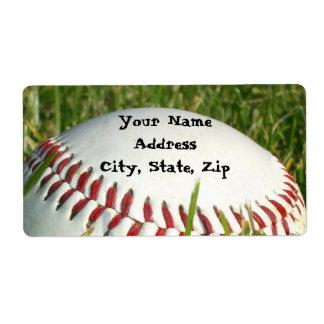 Baseball shipping labels