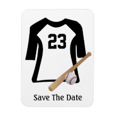 Baseball Shirt With Bat And Ball  Flexible Magnet at Zazzle