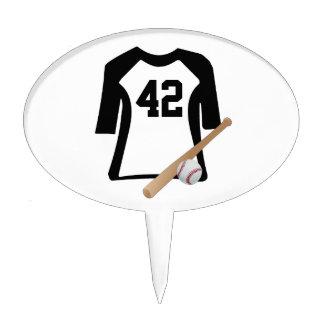 Baseball Shirt With Bat n Ball Birthday Cake Pick