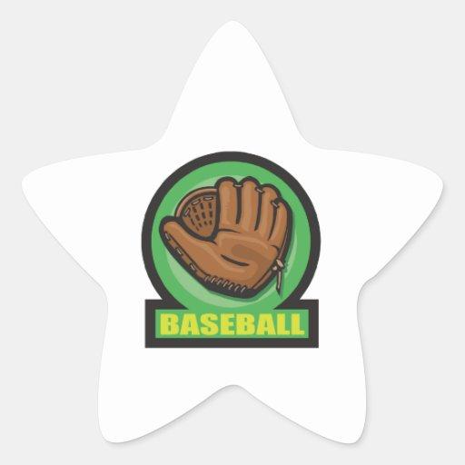 baseball sign mitt icon sticker