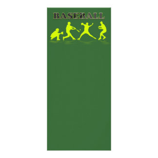 Baseball Sihlouettes Bookmark Rack Card
