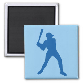 baseball silhouette 2 inch square magnet