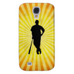 Baseball Silhouette; yellow Galaxy S4 Covers