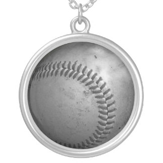 Baseball Silver Plated Necklace