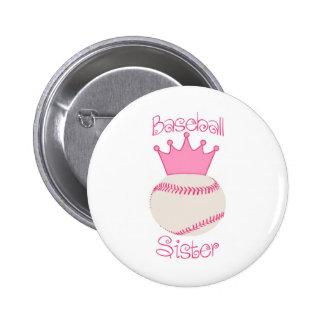 Baseball Sister Pin