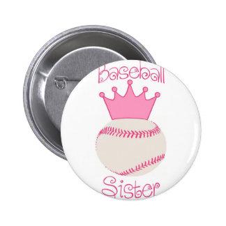 Baseball Sister Pins