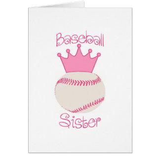 Baseball Sister Card