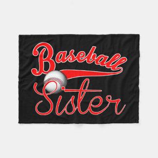 Baseball Sister Fleece Blanket