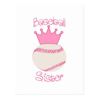 Baseball Sister Postcard