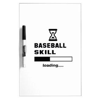 Baseball skill Loading...... Dry Erase Board