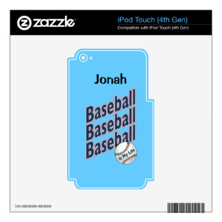 Baseball Skin for iPod Touch or MP3 Player