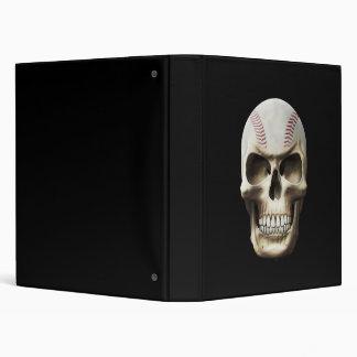 Baseball Skull 3 Ring Binder